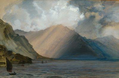 Storm Clouds At Ennerdale John Ruskin Landscape Art Lake Painting