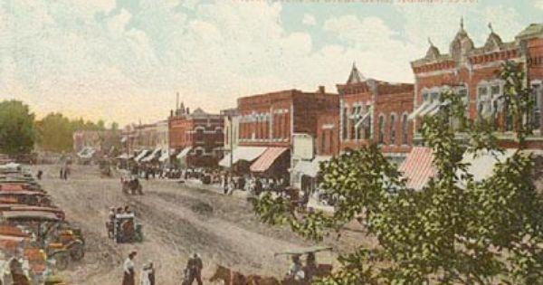 Street Scene Great Bend Ks Back In The Day Great Bend Kansas Street Scenes Favorite Places