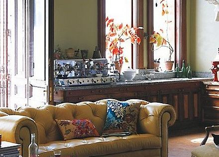 Anthropologie eclectic bohemian traditional vintage for Traditional eclectic living rooms