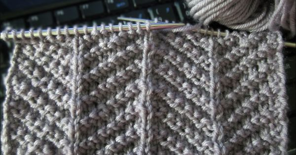 Knit-Purl Combinations: Pattern 3 - Herringbone Texture ...