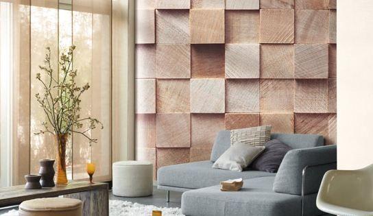 Decor Papier Peint Cube Bois