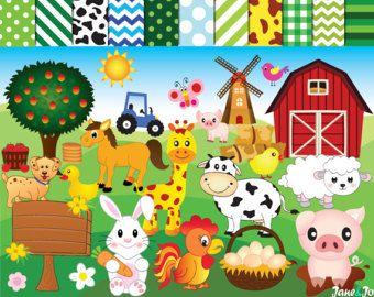 56 Imagenes Predisenadas Del Circo Arte Clip Del Circo Etsy Animal Clipart Farm Animals Felt Ornaments Diy