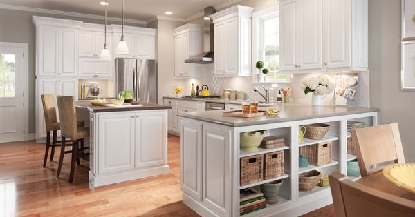 American woodmark newport maple linen home decorating for American maple kitchen cabinets