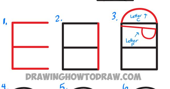 how to draw cartoon numbers