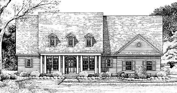 Neoclassical house plan with 2256 square feet and 3 for Neoclassical house plans