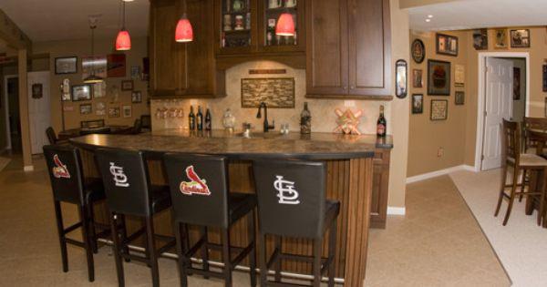 St Louis Cardinals Man Cave Ideas : Cardinals basement traditional st louis j