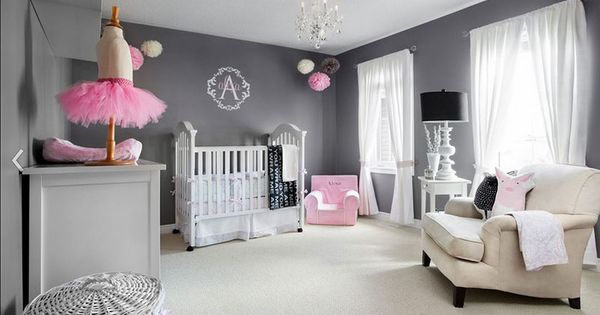 modern baby girl room - Google Search