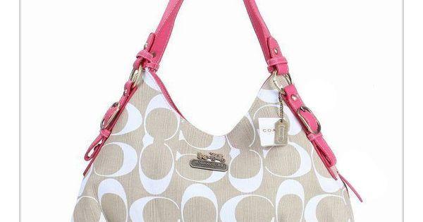 #coach purses Please Enjoy Our High-Quality Coach Fashion Signature Medium Pink Ivory