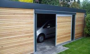 Exzellenter Carport Haus Schmales Grundstuck Schiebetur Aussen Carport Uberdachung