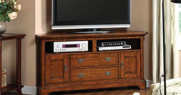 55 Monteville Dark Oak Corner TV Stand