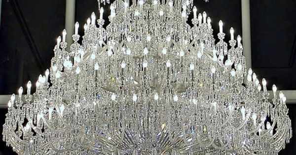 Baccarat crystal chandelier by Megara Liancourt, via Flickr For the foyer chandelier.