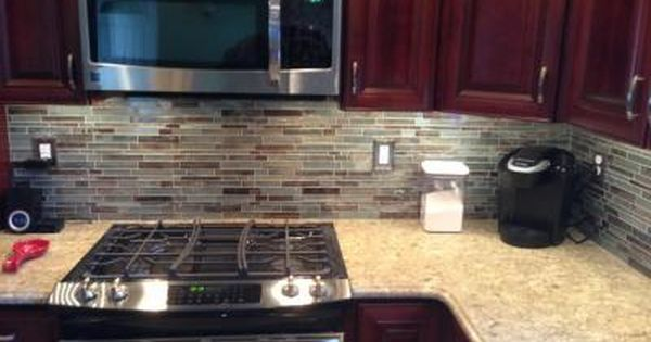 Allen Roth Glass Mosaic Shimmering Lights Glass Wall Tile