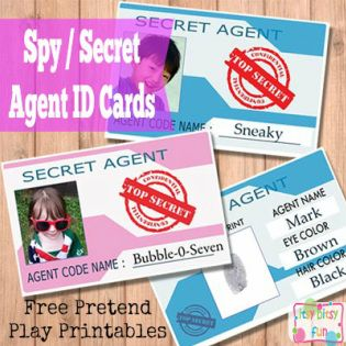 Free Printable Licenses And Id Cards For Kids Spy Kids Party
