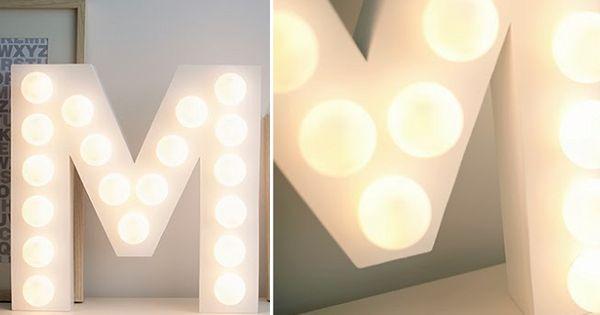 Diy letters met lampen blog met en liefde for Lampen namen
