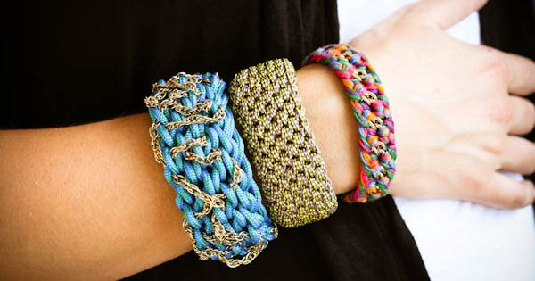 Crocheted bracelets: At Green Eyed Monster, sisters Ash and Kimmy have a