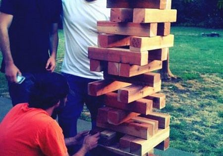 Lawn Jenga ... This looks like serious outdoor fun for a summer