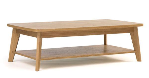 table basse rectangulaire kensal en ch ne massif 2 plateaux prix promo table basse decoclico 299. Black Bedroom Furniture Sets. Home Design Ideas