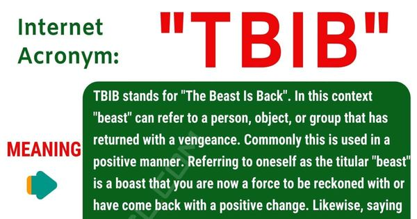 Tbib Meaning What Does Tbib Stand For With Useful Examples