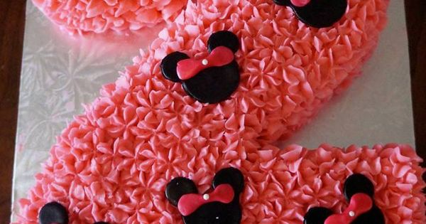 Number 2 Minnie Mouse Cake Buttercream With Marshmallow