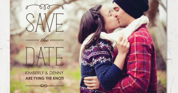 save the date photo ideas - love the card (not a kissing