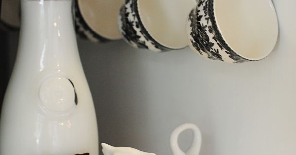Such a cute way to display cups from Dear Lillie: Matt and