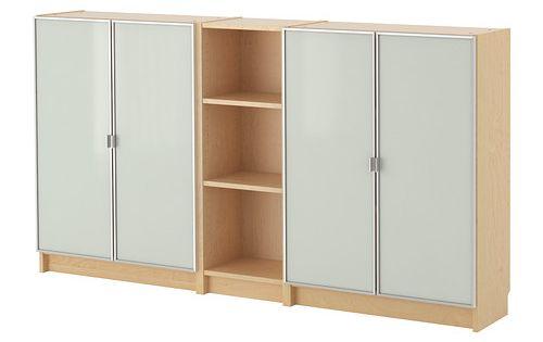 Billy morliden bookcase birch veneer 200x106x28 cm for Ikea blue billy bookcase