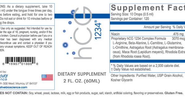 Hcg Drops Hcg 1234 By Creative Bioscience Hcg Hcg Drops Hcg Diet