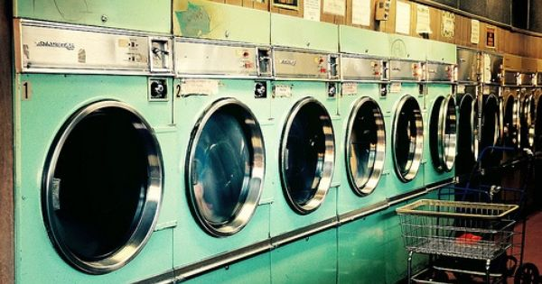 Vicious Cycle Laundromat Laundry Mat Vintage Laundry