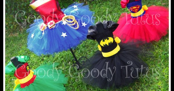 Super hero tutu costumes for little girls by Goody Tutus