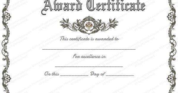 free printable certificate of recognition - Google Search ...