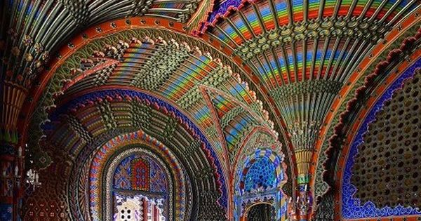 The Peacock Room ~ Castello di Sammezzano in Reggello, Tuscany, Italy. colors
