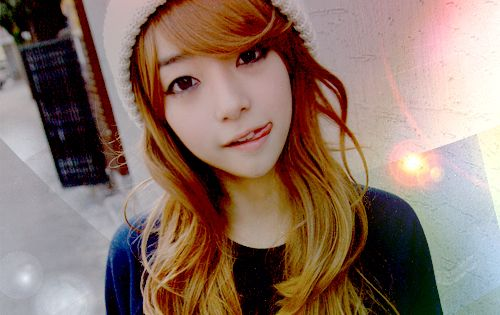 Ulzzang Red Hair Ulzzang with Re...