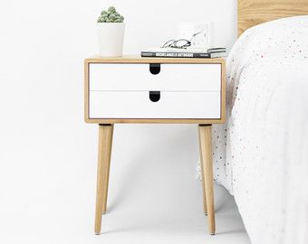 Two Table bedside Century Nightstand Scandinavian Mid bf76vgYy