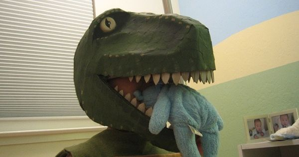 Homemade T Rex Costume Crafts Grocery Bags And Homemade