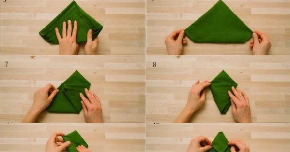 tannenbaum mit serviette in wenigen schritten zaubern. Black Bedroom Furniture Sets. Home Design Ideas