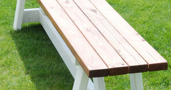 DIY Farmhouse Bench for less than $20 - fire pit