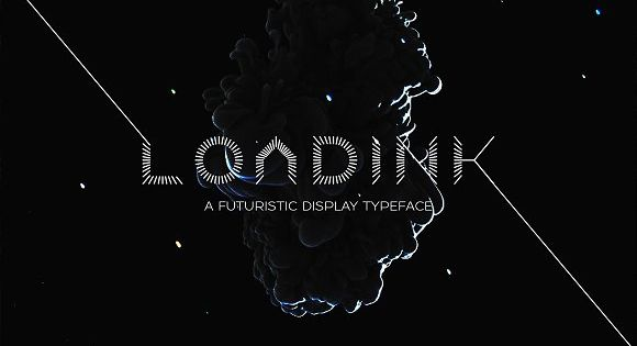 LOADINK Typeface – futuristic display typeface.