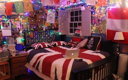 Hipster room tumblr home pinterest lichterketten for Hipster zimmer