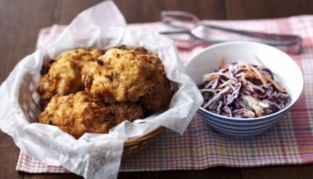 Southern Fried Chicken And Coleslaw Recipe Recipe Southern Fried Chicken Recipes Food