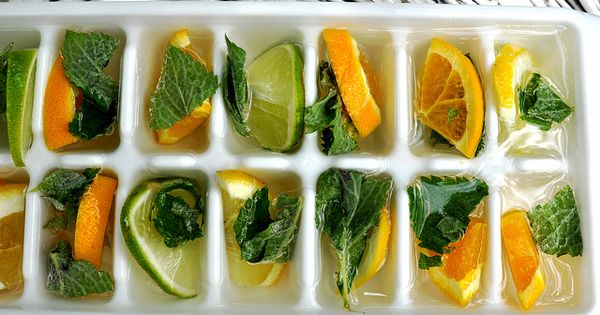 Freeze pieces of lemon, lime, and mint into your ice cubes :-)
