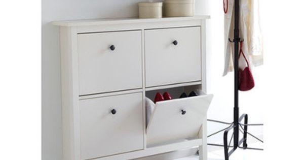 New ikea hemnes shoe cabinet storage wood chest entry patio mud room craft : HEMNES ...