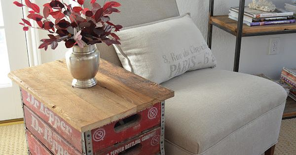 Tattered Style: DIY ~ Dr. Pepper Crate Table