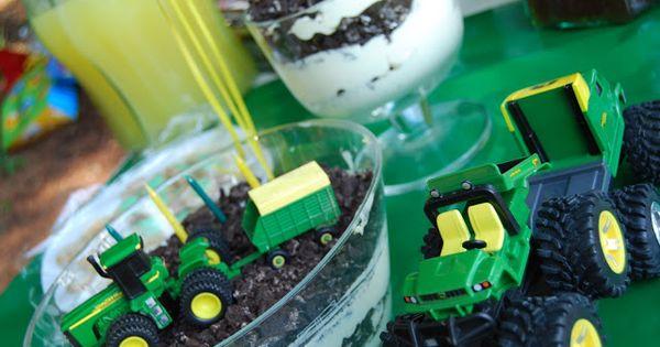 Dirt cake, John deere and John deere tractors on Pinterest