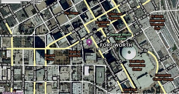 307 W 7th St Fort Worth, TX Satellite Map and View ...