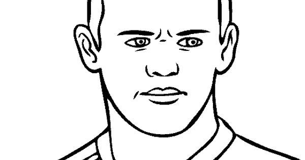 Wayne Rooney Coloring Page | Projects to Try | Pinterest ...