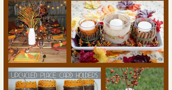 Homemade thanksgiving table decorations more frugal Thanksgiving table decorations homemade