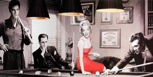 Lampshades Ideal To Match James Dean Marilyn Monroe etc Classic Hollywood Movies