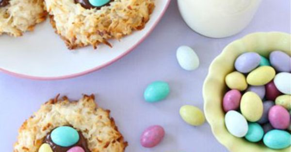 easter-coconut-macaroon-nutella-nests | easter | Pinterest ...