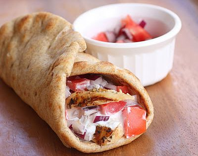 Chicken Gyros. Cut oil to 1 T and use 0% Greek yogurt