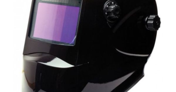 Large view auto darken welding helmet tool box